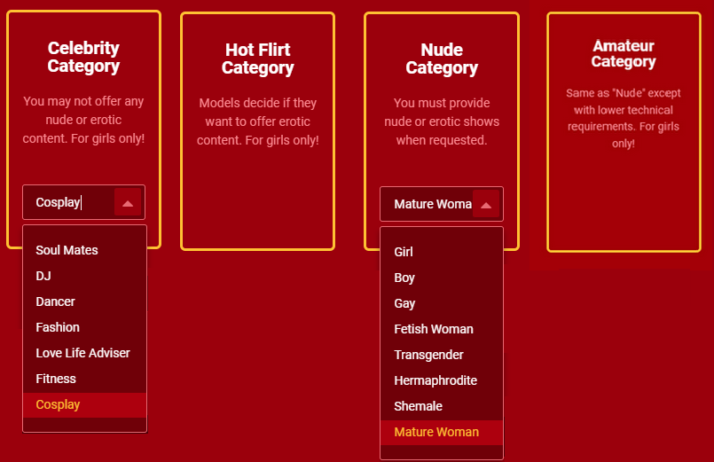 livejasmin categories