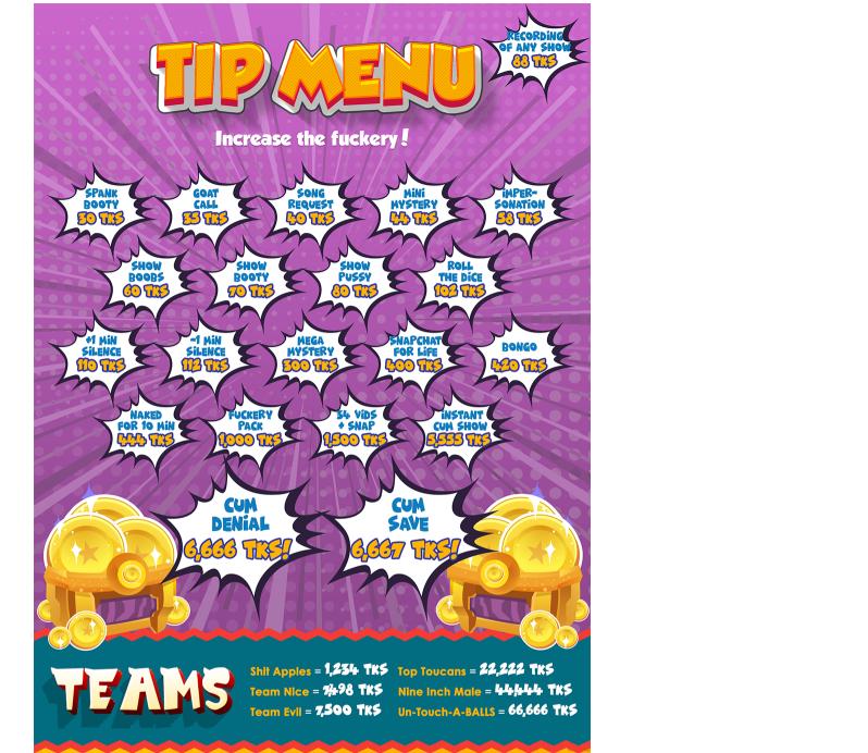 chaturbate tip menu